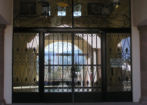 Commercial Wrought Iron Door