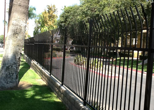 San Bernardino Wrought Iron Fence