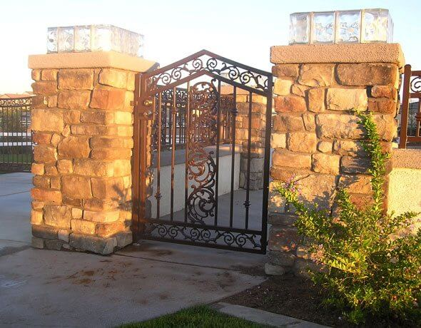 Wrought Iron Fencing Gates Folding Security Doors